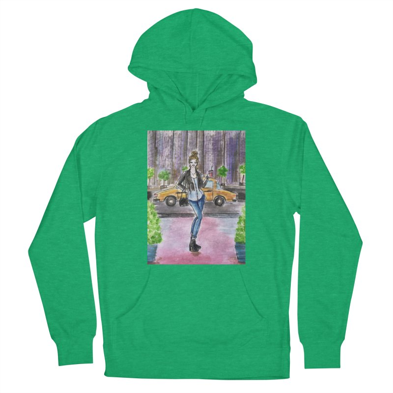 NYC Spring time Taxi Ride Women's French Terry Pullover Hoody by Deanna Kei's Artist Shop