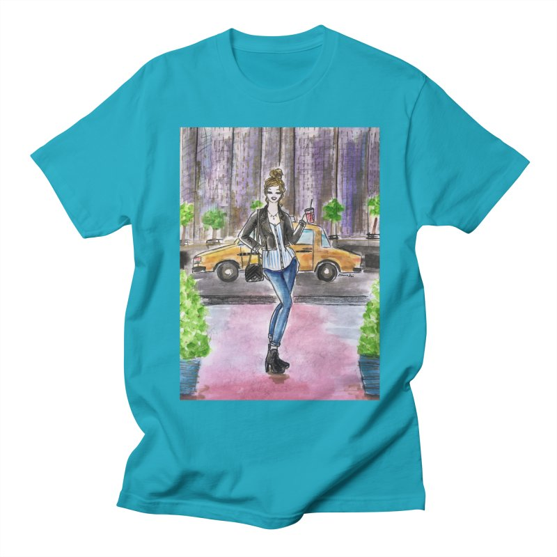 NYC Spring time Taxi Ride Men's Regular T-Shirt by Deanna Kei's Artist Shop