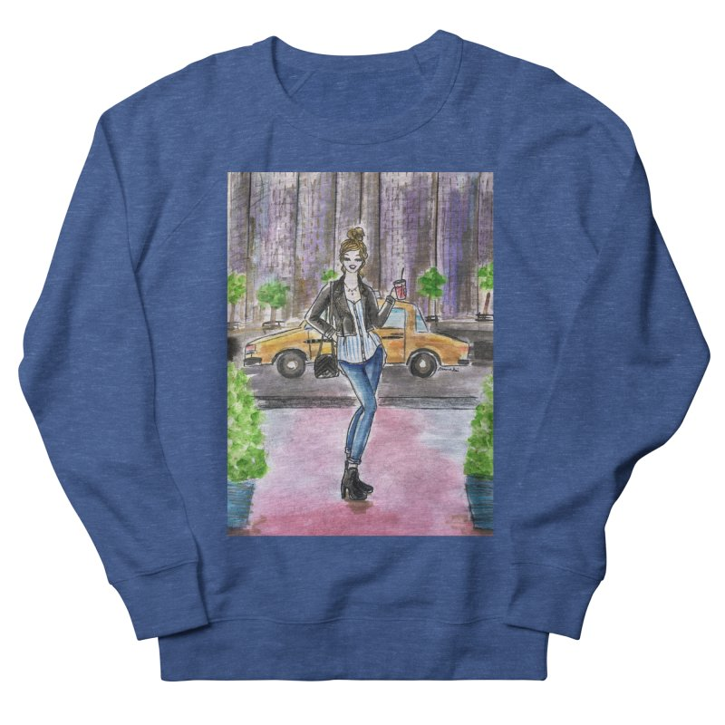 NYC Spring time Taxi Ride Men's Sweatshirt by Deanna Kei's Artist Shop