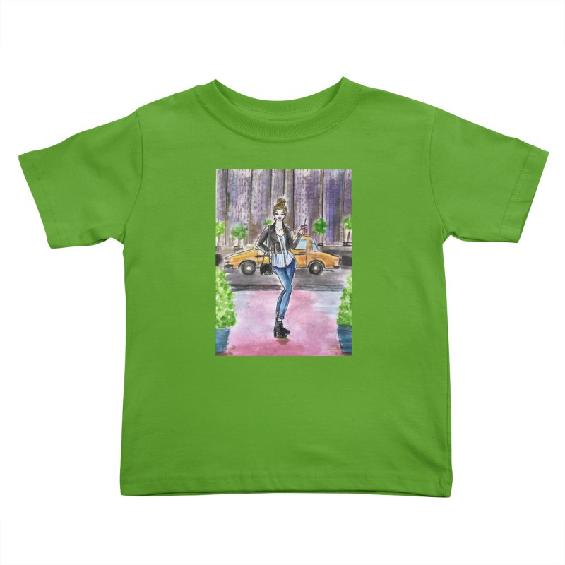 NYC Spring time Taxi Ride Kids Toddler T-Shirt by Deanna Kei's Artist Shop
