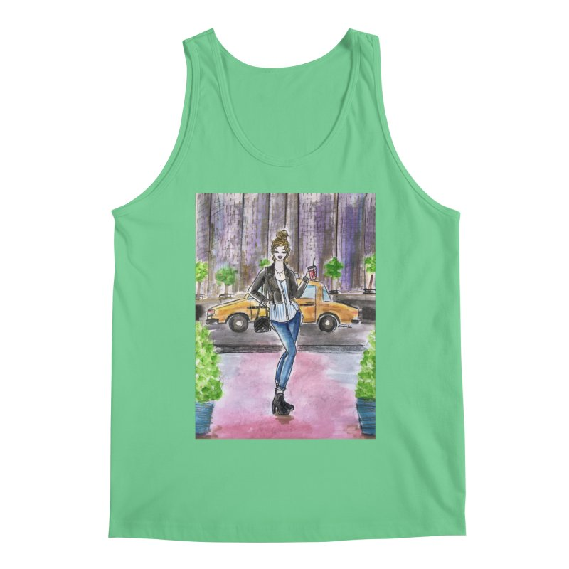 NYC Spring time Taxi Ride Men's Regular Tank by Deanna Kei's Artist Shop