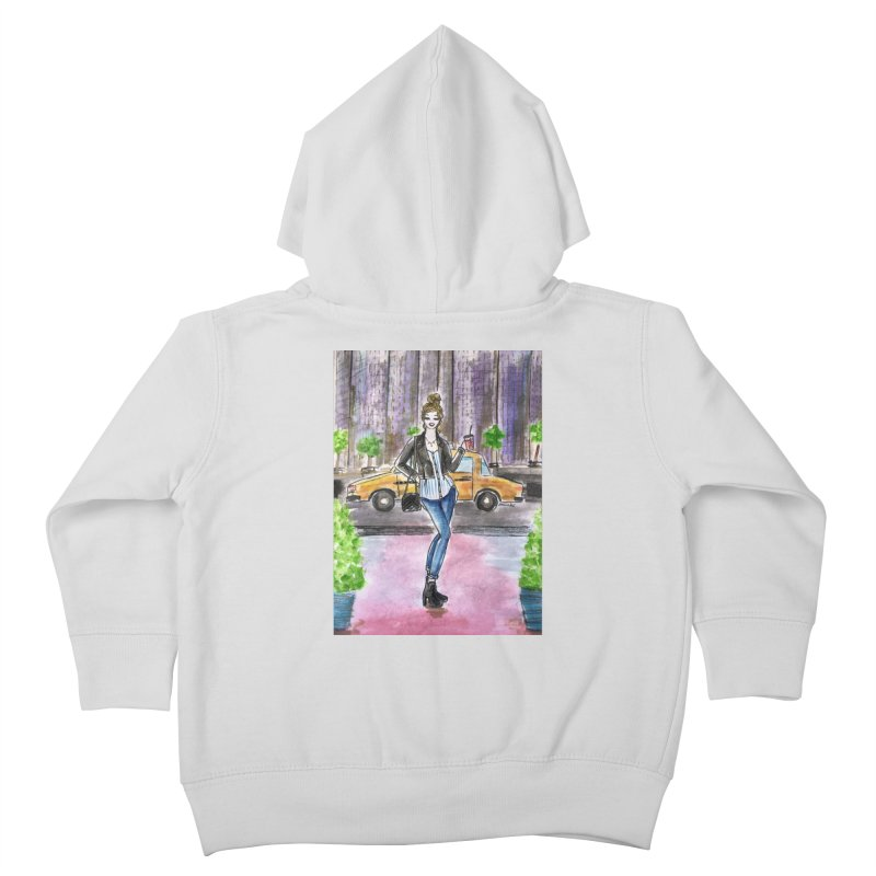 NYC Spring time Taxi Ride Kids Toddler Zip-Up Hoody by Deanna Kei's Artist Shop