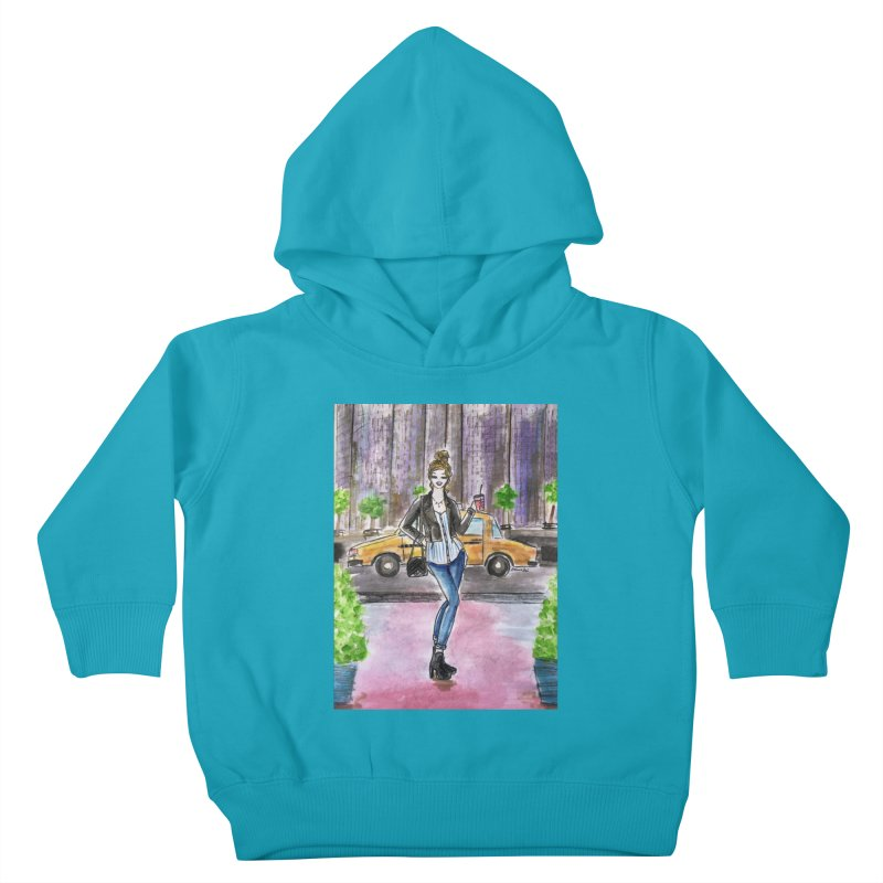 NYC Spring time Taxi Ride Kids Toddler Pullover Hoody by Deanna Kei's Artist Shop