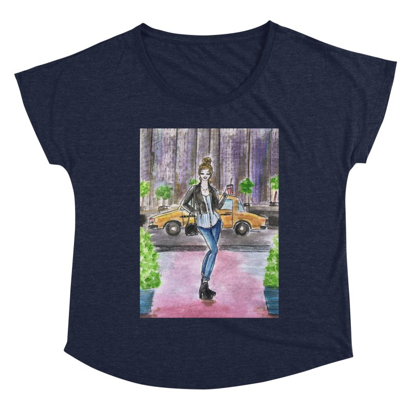 NYC Spring time Taxi Ride Women's Dolman Scoop Neck by Deanna Kei's Artist Shop