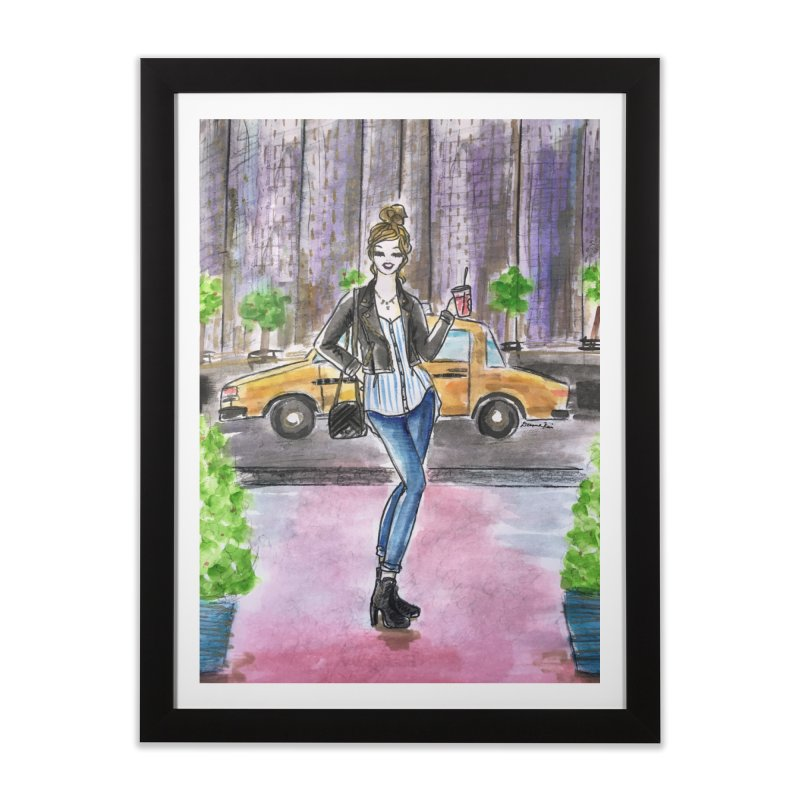 NYC Spring time Taxi Ride Home Framed Fine Art Print by Deanna Kei's Artist Shop