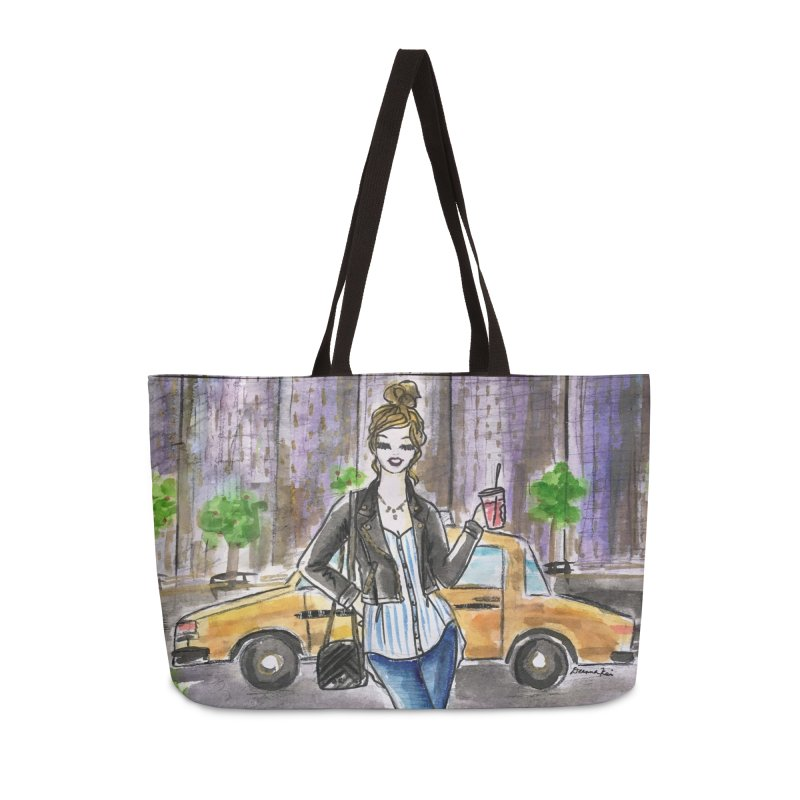NYC Spring time Taxi Ride Accessories Weekender Bag Bag by Deanna Kei's Artist Shop