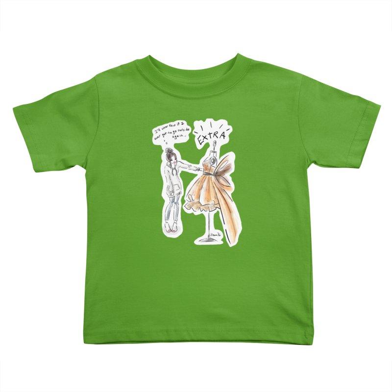 Quarantine Style Kids Toddler T-Shirt by Deanna Kei's Artist Shop
