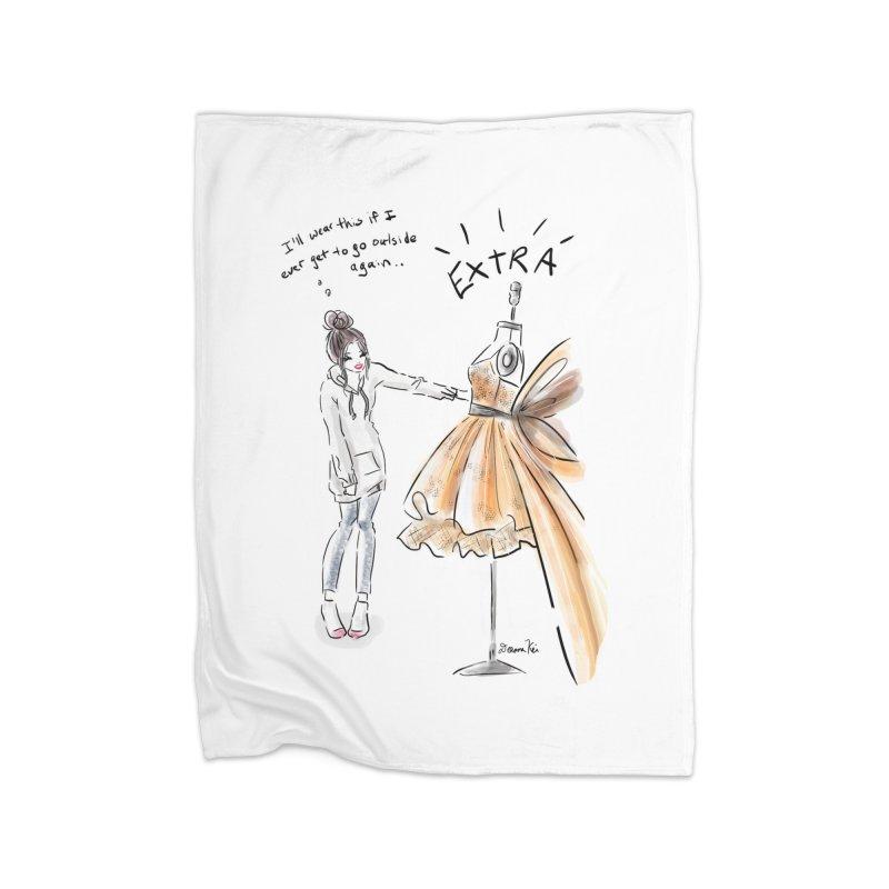 Quarantine Style Home Blanket by Deanna Kei's Artist Shop