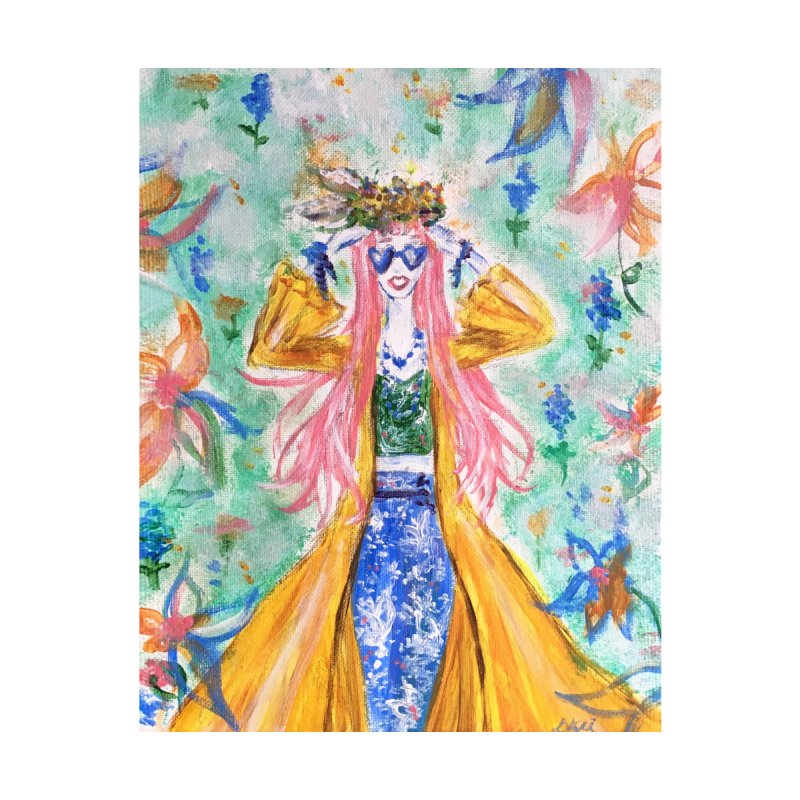 Spring Flower Girl Women's T-Shirt by Deanna Kei's Artist Shop