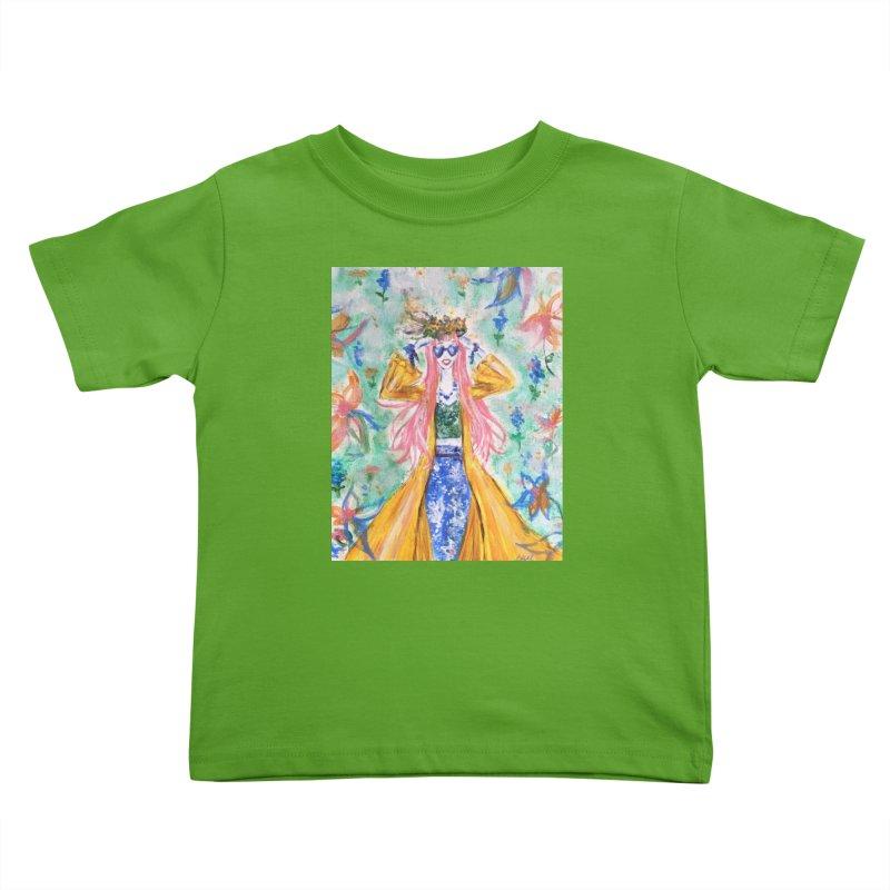 Spring Flower Girl Kids Toddler T-Shirt by Deanna Kei's Artist Shop