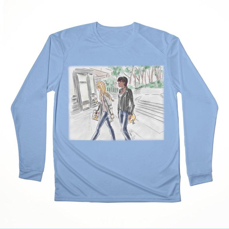 Bryant Park Girls Men's Longsleeve T-Shirt by Deanna Kei's Artist Shop
