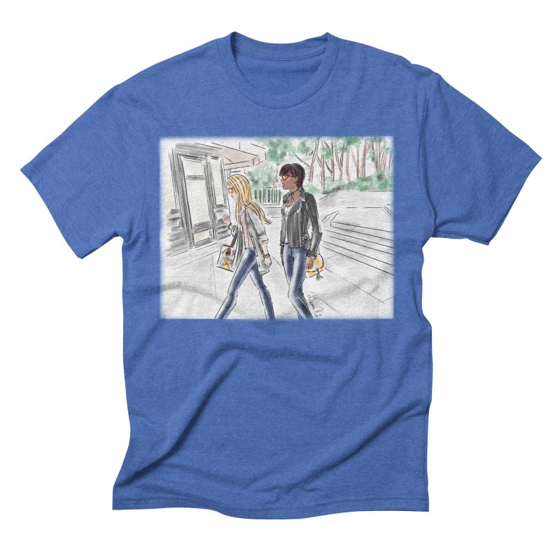 Bryant Park Girls Men's T-Shirt by Deanna Kei's Artist Shop