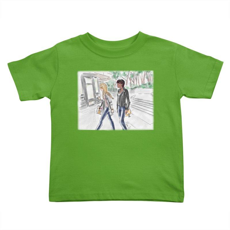 Bryant Park Girls Kids Toddler T-Shirt by Deanna Kei's Artist Shop