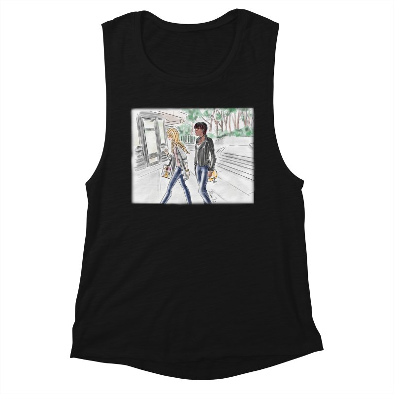 Bryant Park Girls Women's Tank by Deanna Kei's Artist Shop