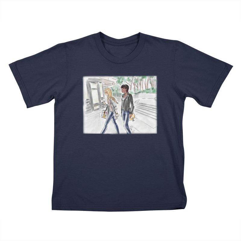 Bryant Park Girls Kids T-Shirt by Deanna Kei's Artist Shop