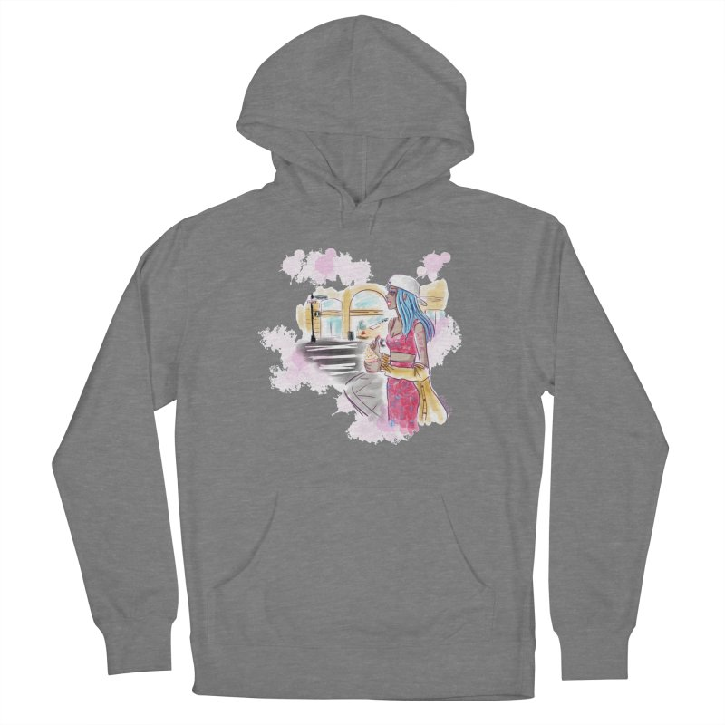 Ice Cream City Street Women's Pullover Hoody by Deanna Kei's Artist Shop