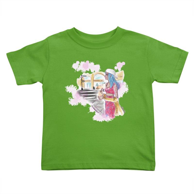 Ice Cream City Street Kids Toddler T-Shirt by Deanna Kei's Artist Shop