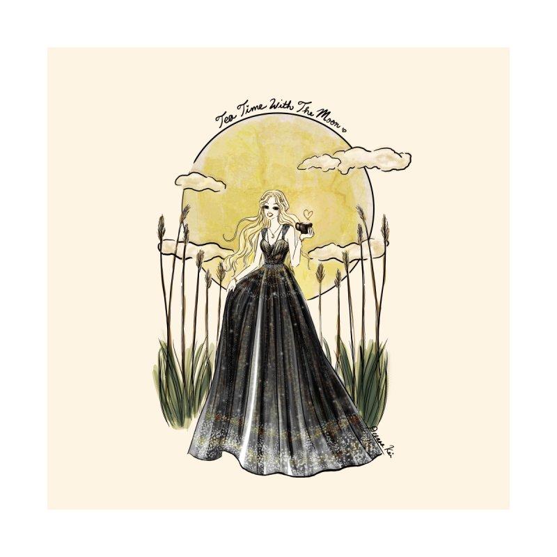 Moonlit Tea Time Home Blanket by Deanna Kei's Artist Shop