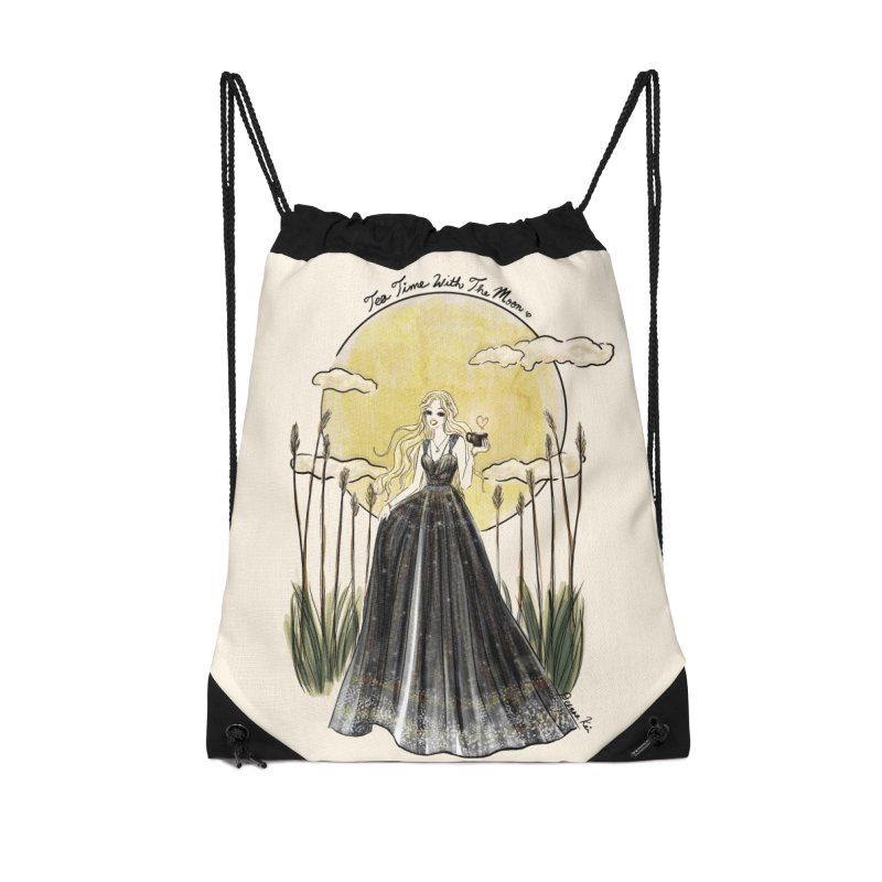 Moonlit Tea Time Accessories Bag by Deanna Kei's Artist Shop