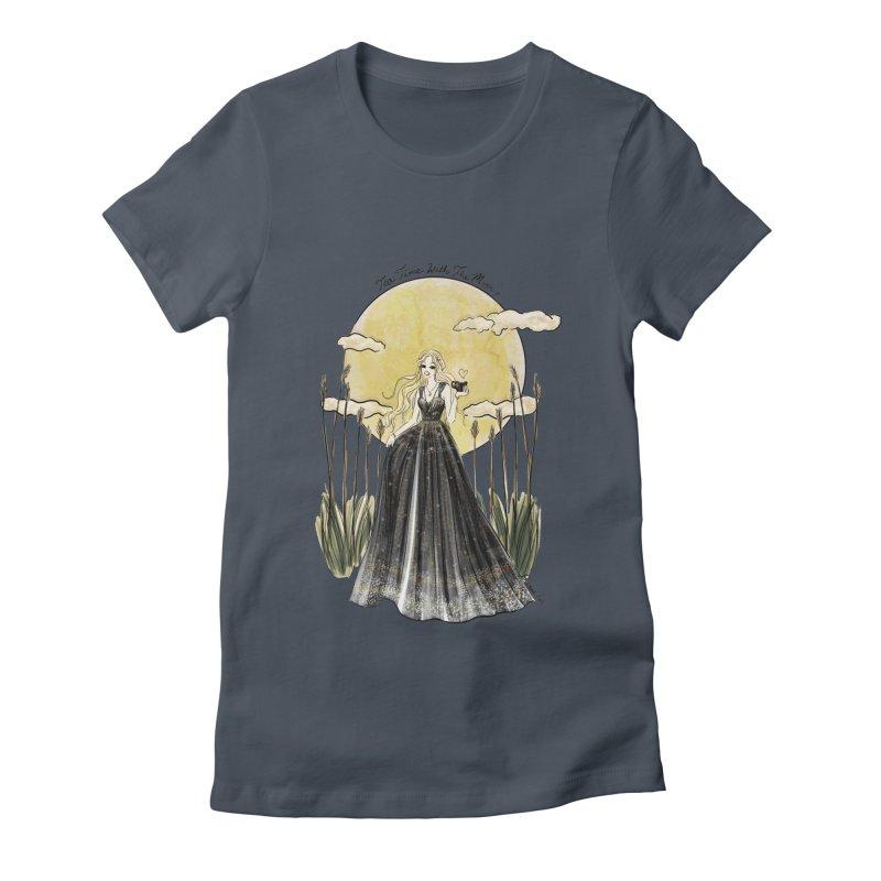 Moonlit Tea Time Women's T-Shirt by Deanna Kei's Artist Shop