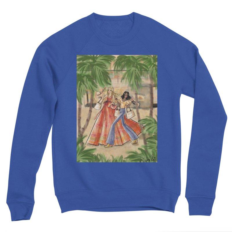 Shopping in the Sun Men's Sweatshirt by Deanna Kei's Artist Shop