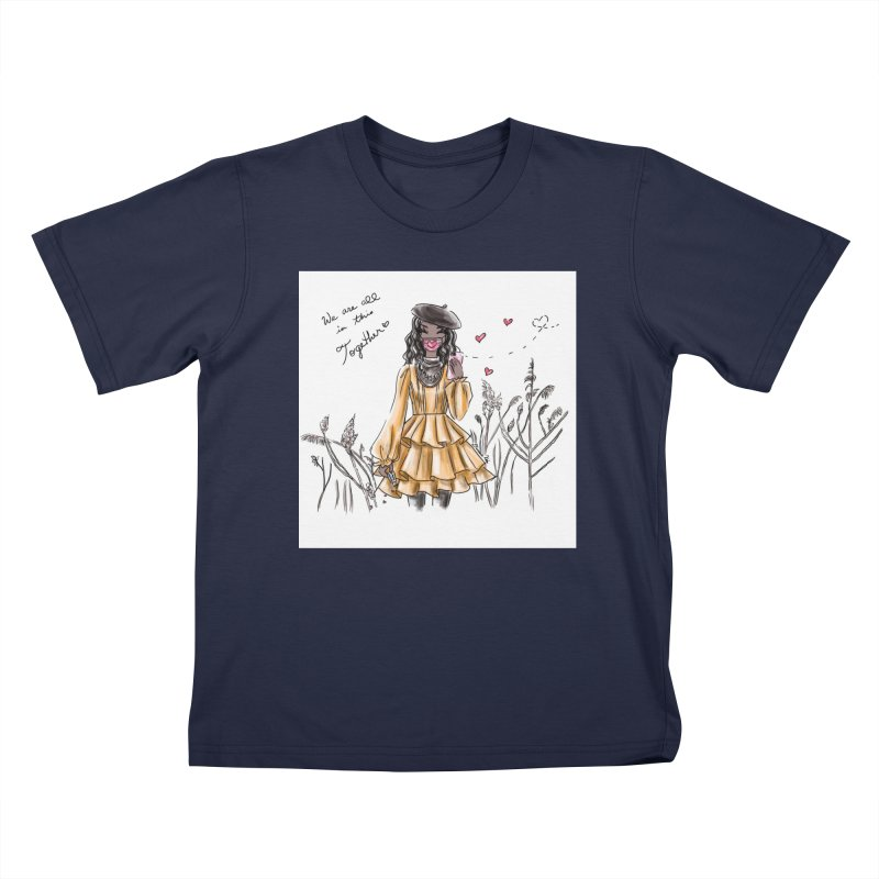 In This Together Kids T-Shirt by Deanna Kei's Artist Shop
