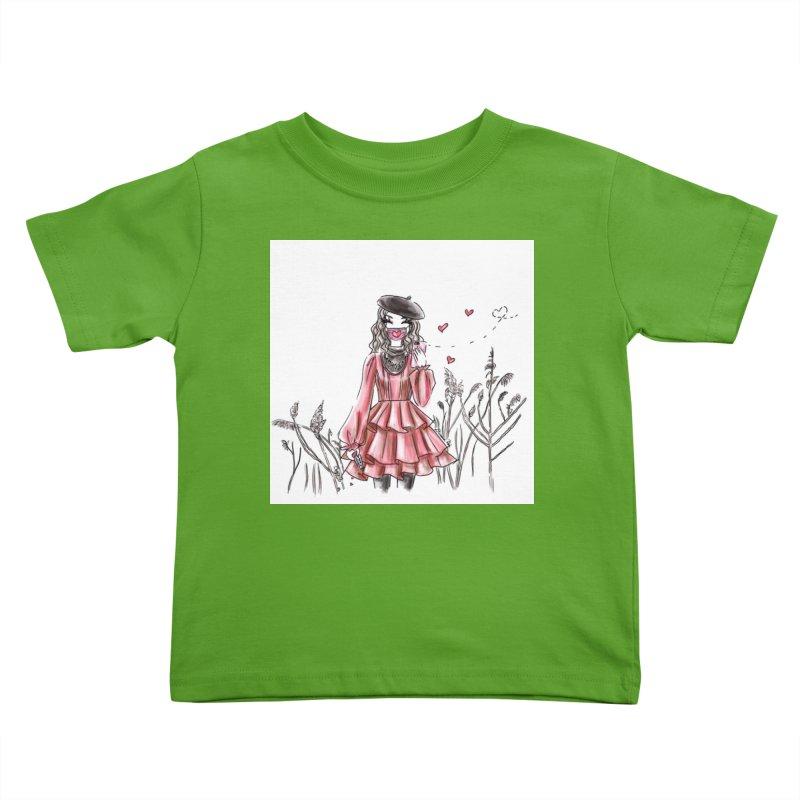 Spread Love Kids Toddler T-Shirt by Deanna Kei's Artist Shop