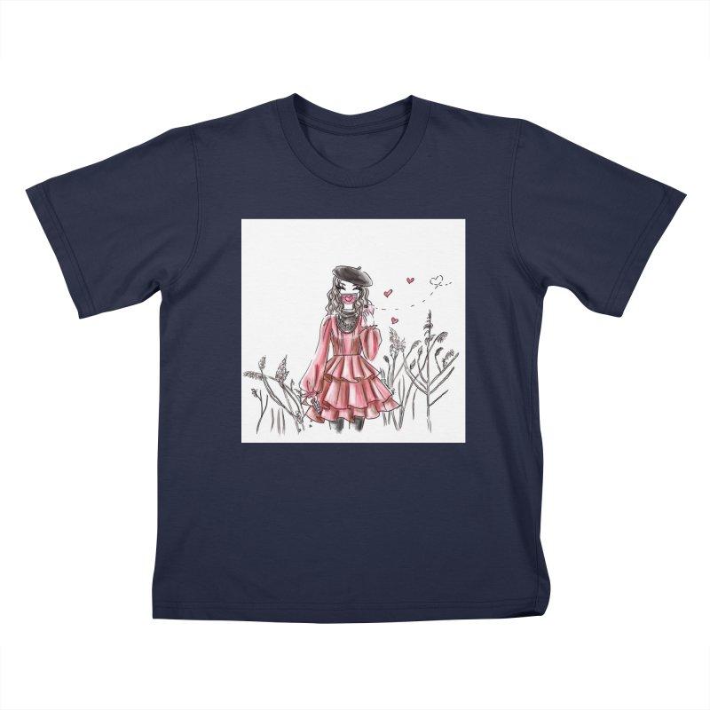 Spread Love Kids T-Shirt by Deanna Kei's Artist Shop