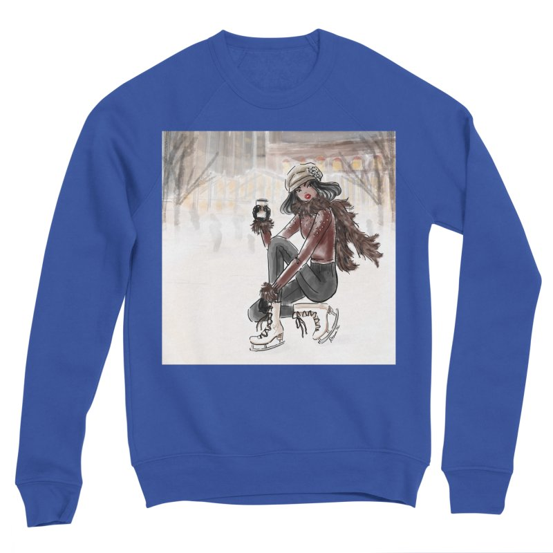 Skating at Bryant Park Men's Sweatshirt by Deanna Kei's Artist Shop
