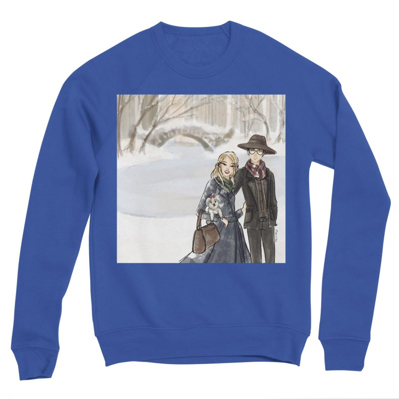 Central Park Couple Men's Sweatshirt by Deanna Kei's Artist Shop