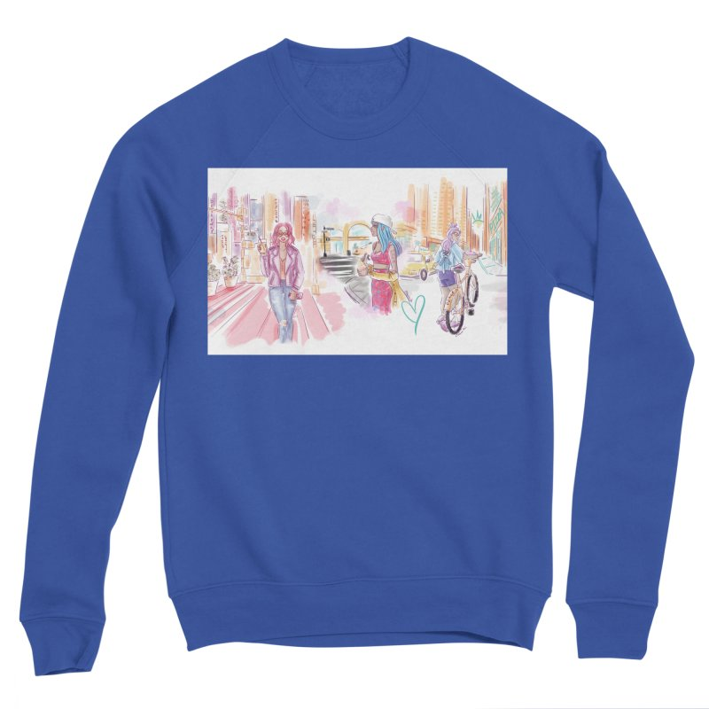 New York City Colors Men's Sweatshirt by Deanna Kei's Artist Shop