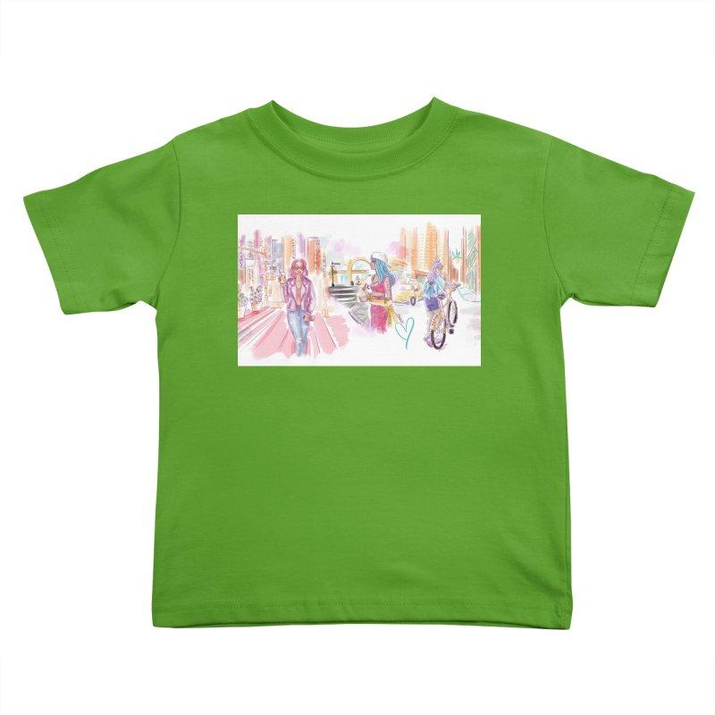 New York City Colors Kids Toddler T-Shirt by Deanna Kei's Artist Shop