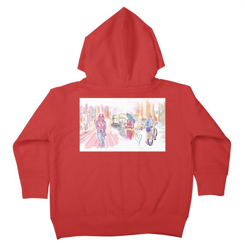 New York City Colors Kids Toddler Zip-Up Hoody by Deanna Kei's Artist Shop
