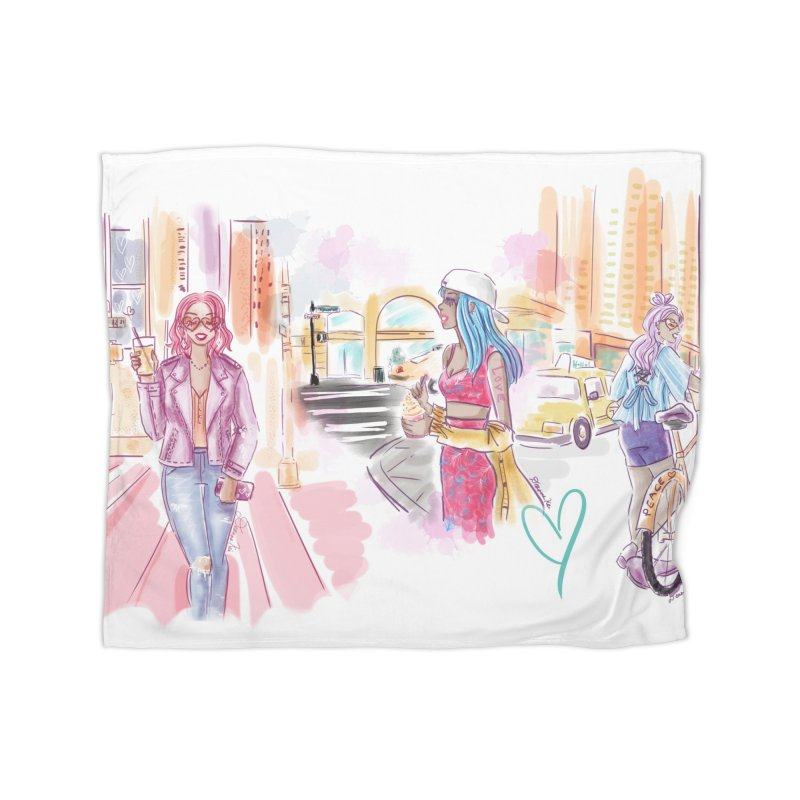 New York City Colors Home Blanket by Deanna Kei's Artist Shop