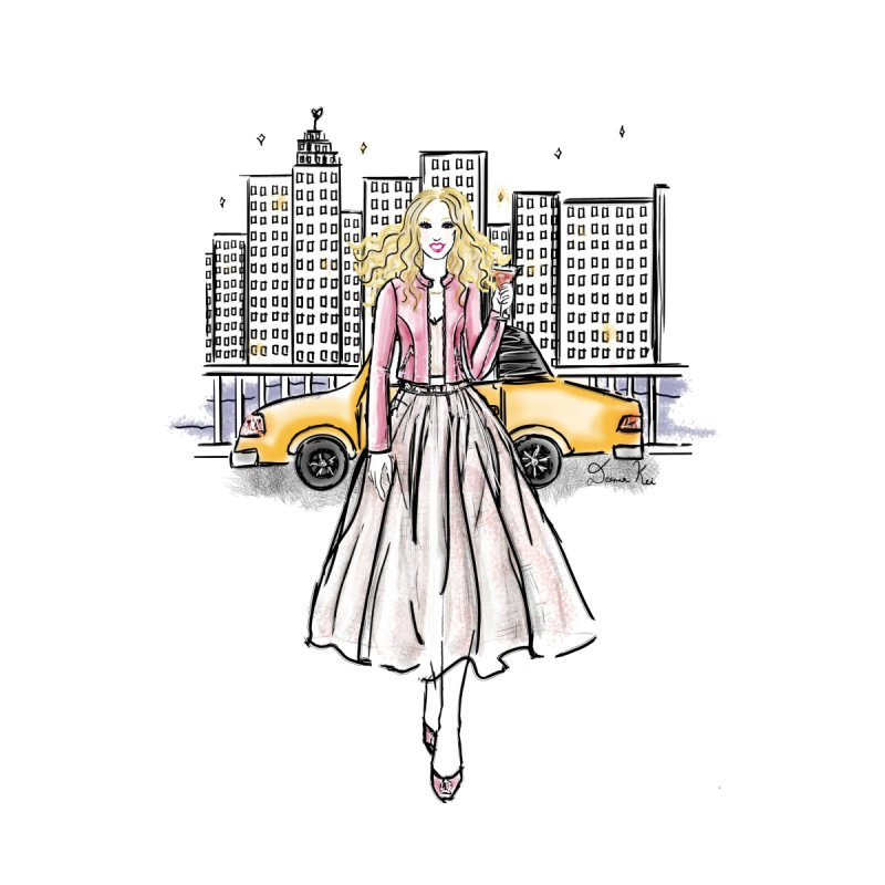 Carrie New York City Accessories Phone Case by Deanna Kei's Artist Shop