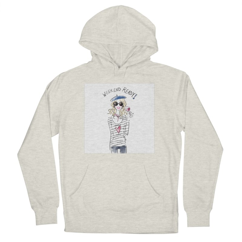 Weekend Ready Men's French Terry Pullover Hoody by deannakei's Artist Shop