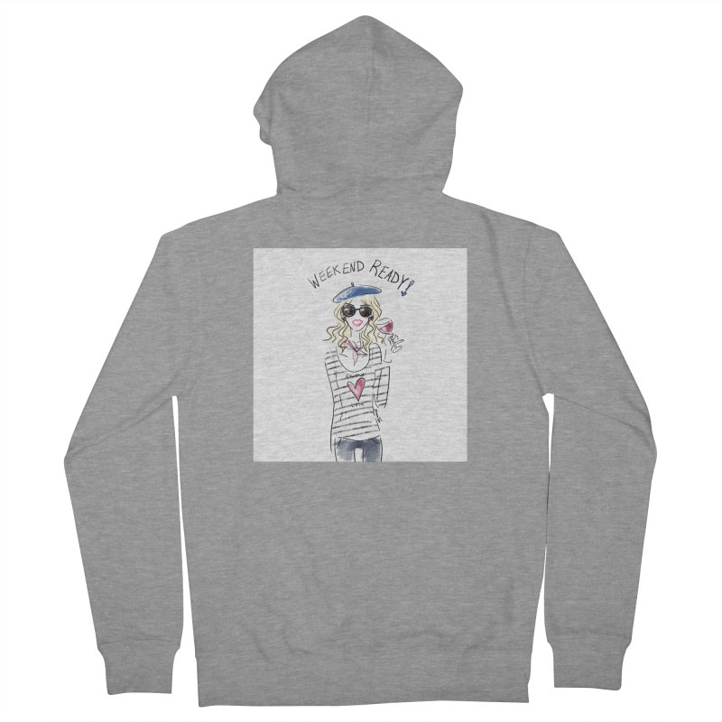 Weekend Ready Women's French Terry Zip-Up Hoody by deannakei's Artist Shop