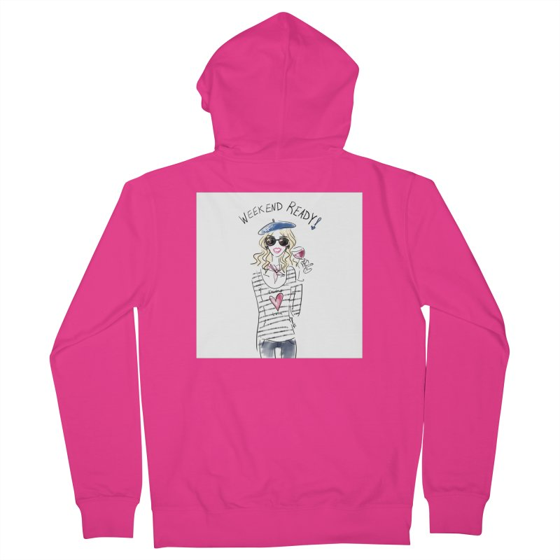 Weekend Ready Men's French Terry Zip-Up Hoody by deannakei's Artist Shop