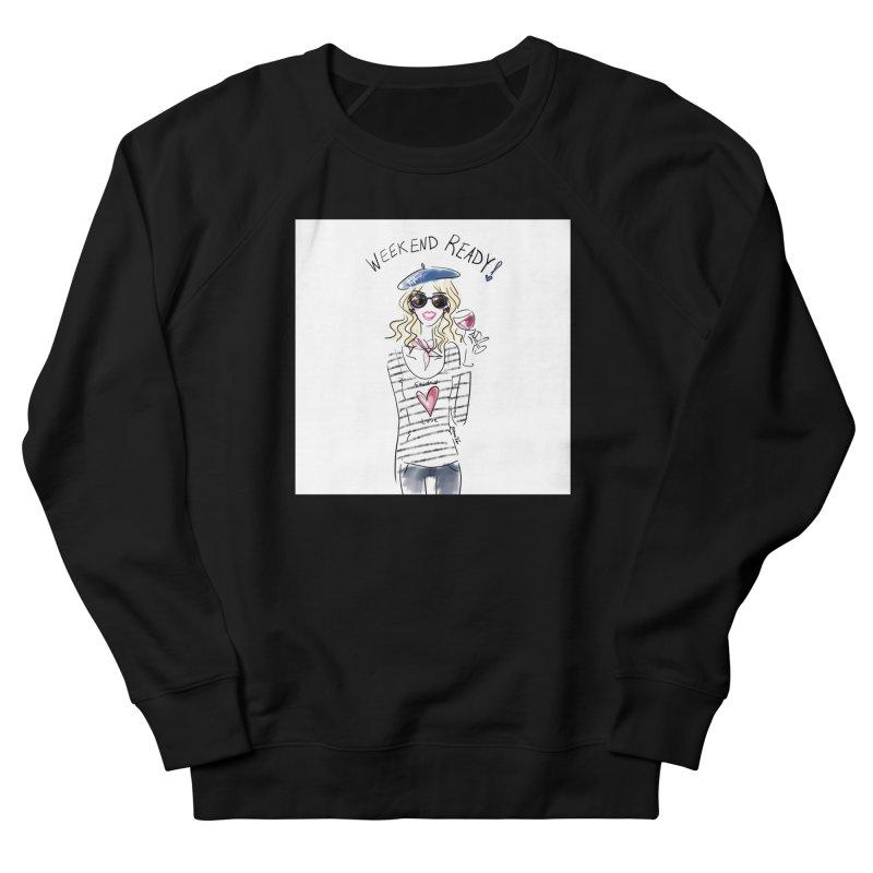 Weekend Ready Men's French Terry Sweatshirt by deannakei's Artist Shop