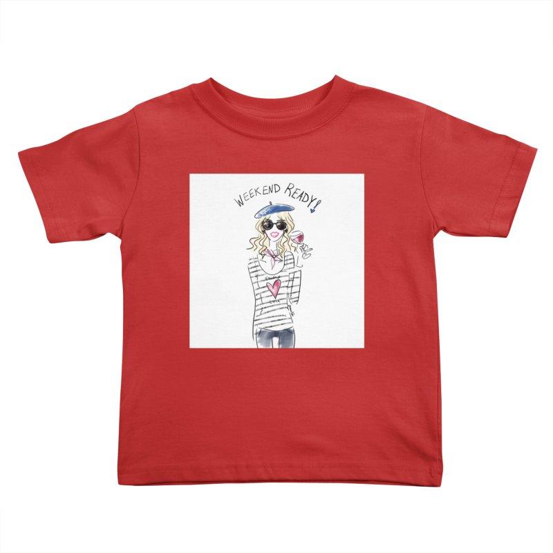Weekend Ready Kids Toddler T-Shirt by deannakei's Artist Shop