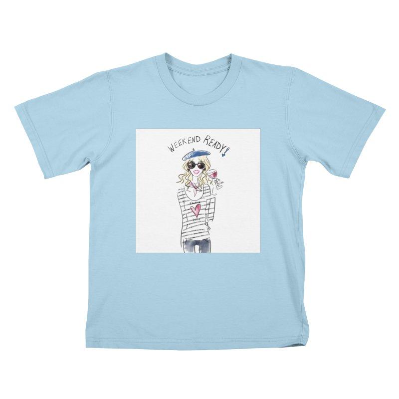 Weekend Ready Kids T-Shirt by deannakei's Artist Shop