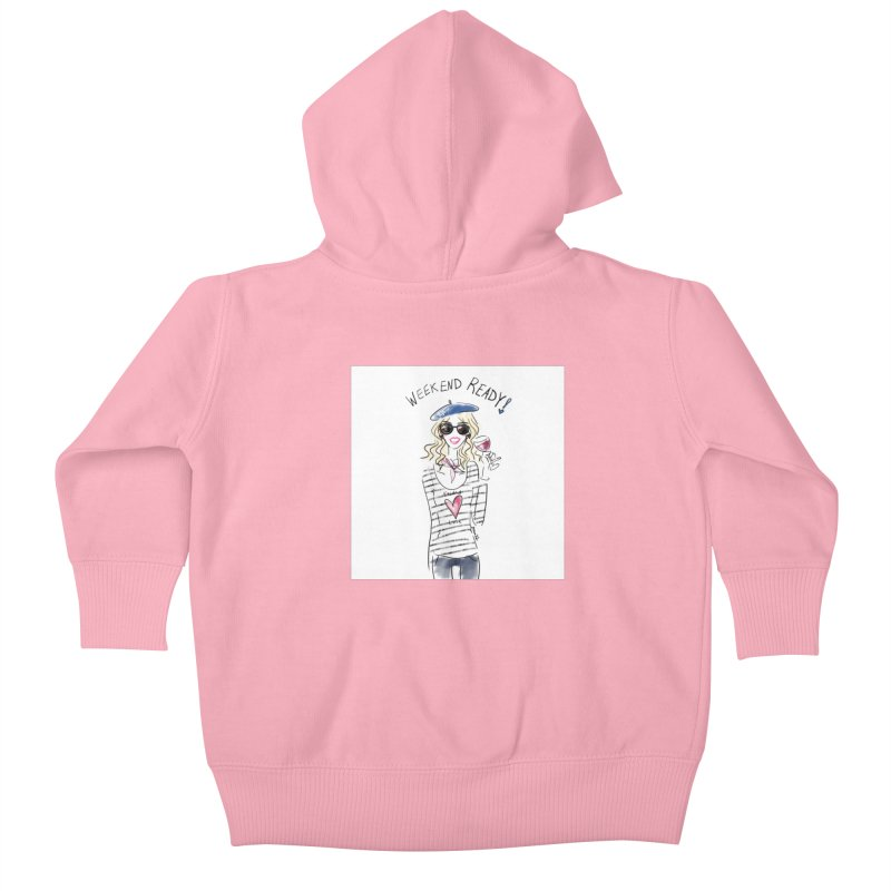 Weekend Ready Kids Baby Zip-Up Hoody by deannakei's Artist Shop