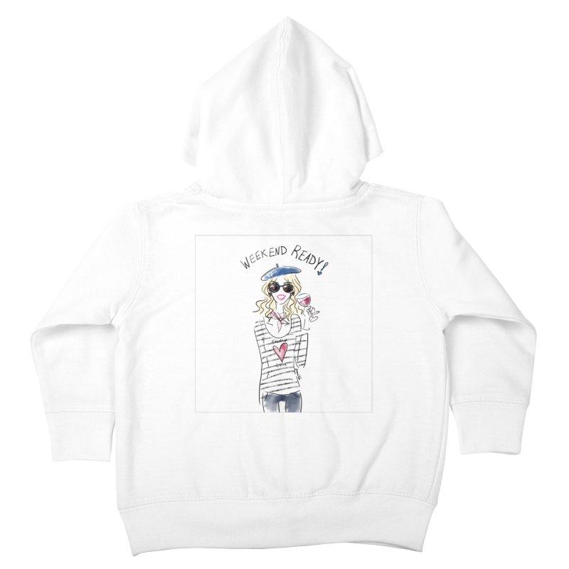 Weekend Ready Kids Toddler Zip-Up Hoody by deannakei's Artist Shop