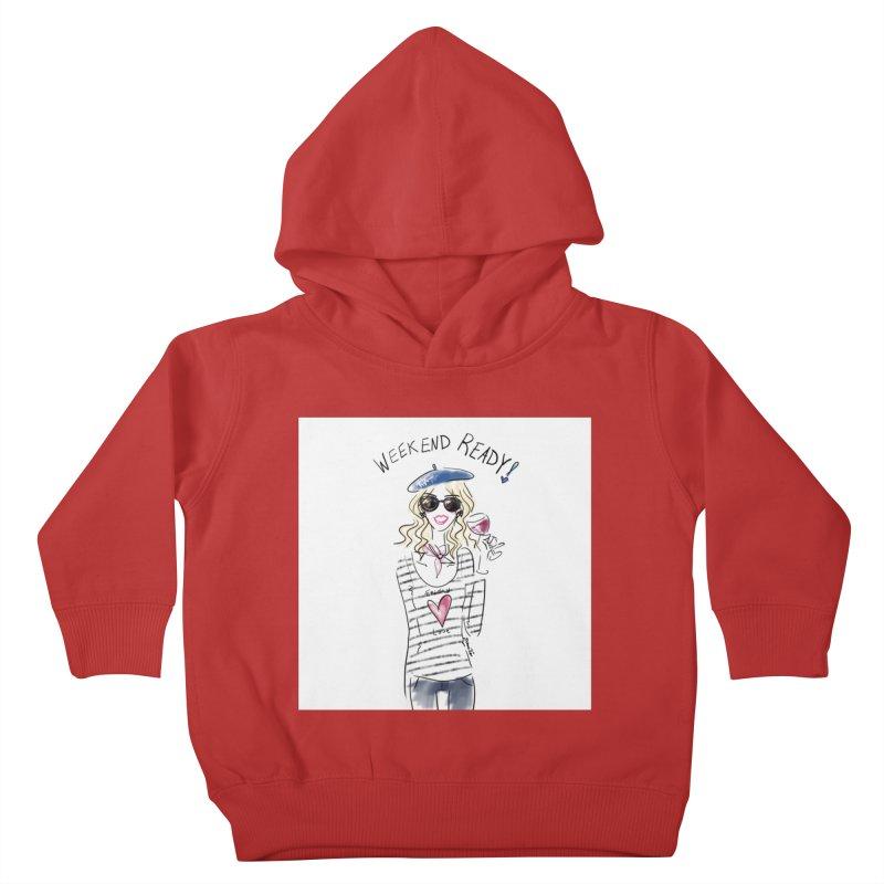 Weekend Ready Kids Toddler Pullover Hoody by deannakei's Artist Shop