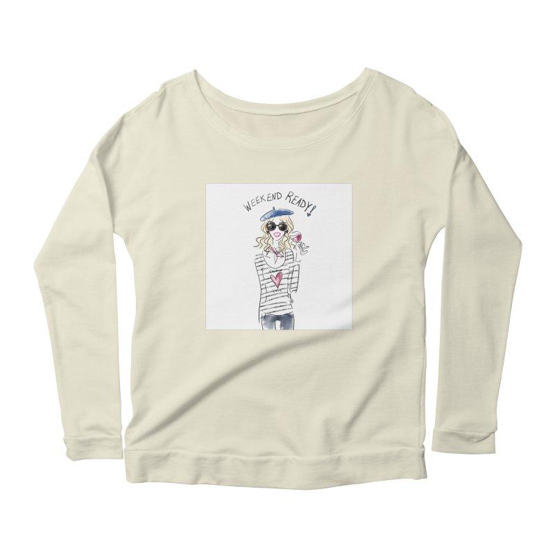 Weekend Ready Women's Scoop Neck Longsleeve T-Shirt by deannakei's Artist Shop