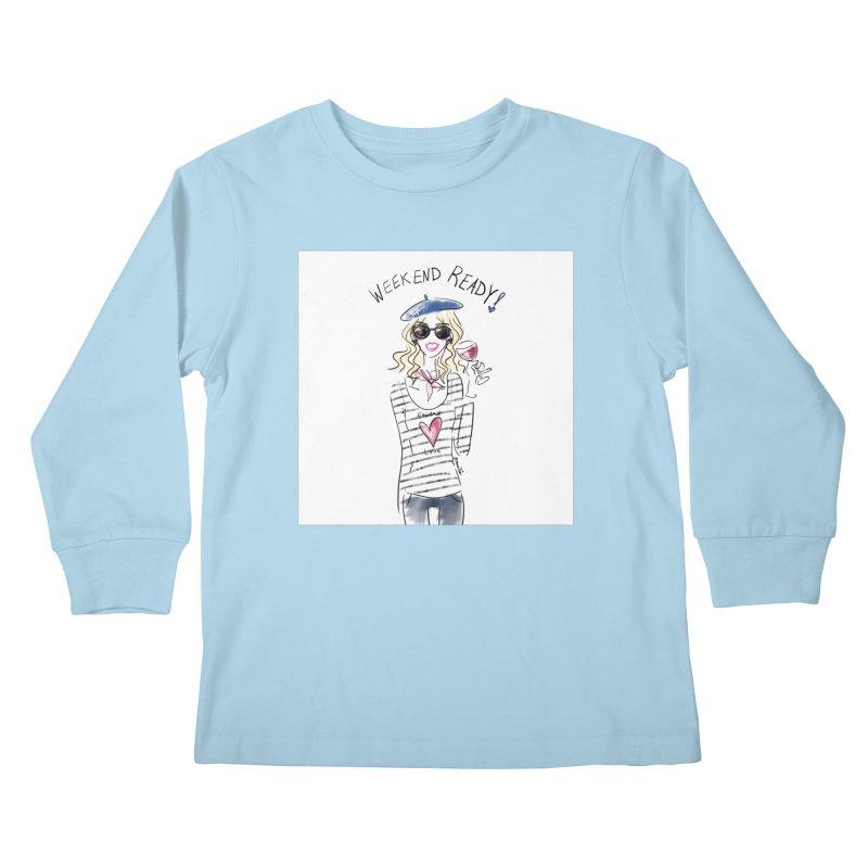 Weekend Ready Kids Longsleeve T-Shirt by deannakei's Artist Shop
