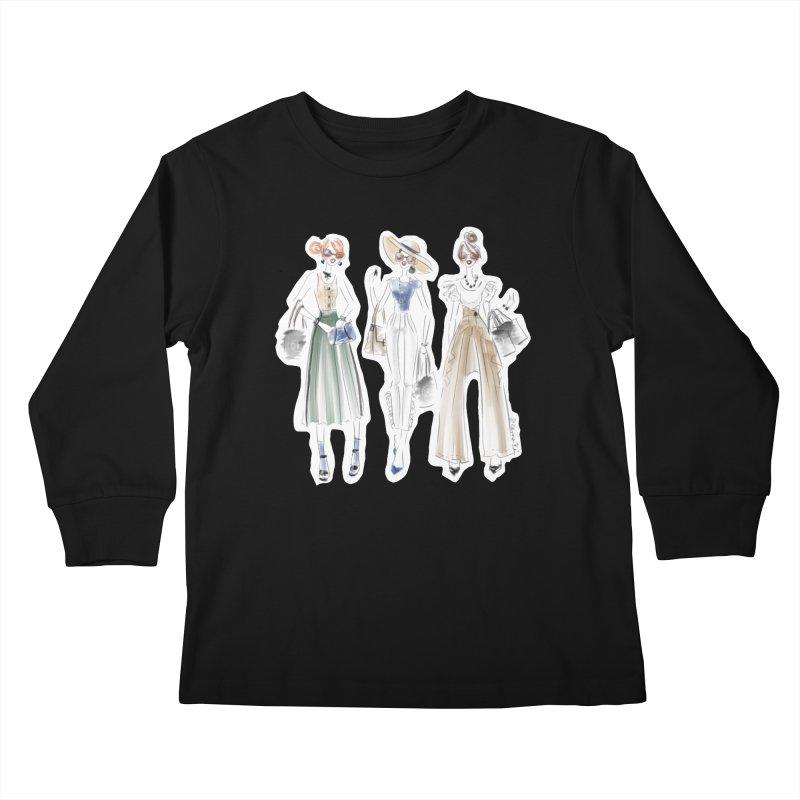 Uptown Chic Kids Longsleeve T-Shirt by deannakei's Artist Shop