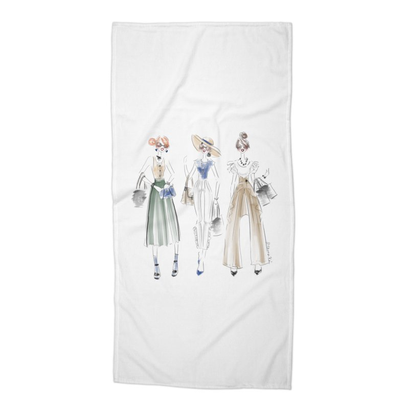Uptown Chic Accessories Beach Towel by deannakei's Artist Shop