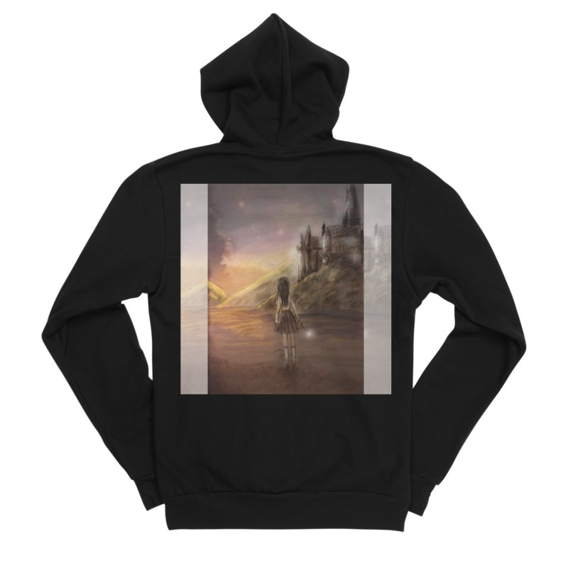Hogwarts Is Our Home Women's Sponge Fleece Zip-Up Hoody by Deanna Kei's Artist Shop