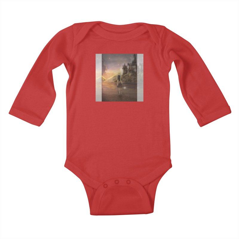 Hogwarts Is Our Home Kids Baby Longsleeve Bodysuit by Deanna Kei's Artist Shop